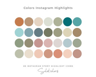 28 Solid Color Instagram Highlight Icons