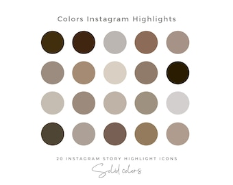 20 Solid Color Instagram Highlight Icons