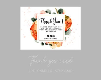 Thank you cards business