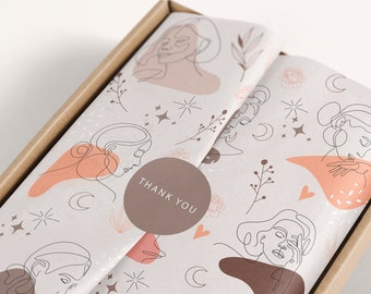Tissue paper design download, sticker and card 5x7, Branded Tissue Paper