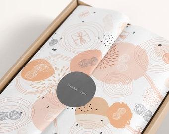 Tissue paper design download and sticker, Branded Tissue Paper