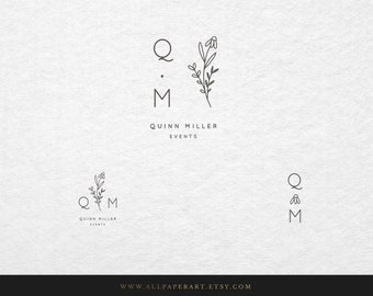 Premade Logo Design, Feminine Logo and Watermark