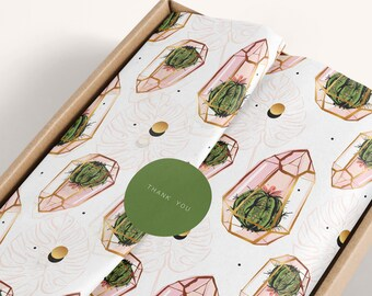 Tissue paper design download card and sticker, Branded Tissue Paper