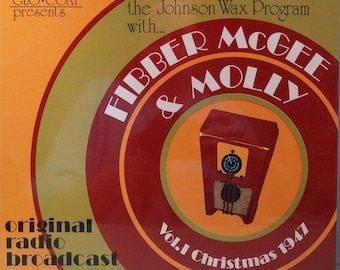 """The """"Johnson's Wax Program"""" With Fibber McGee and Molly Vol. I Christmas 1947 ( LP, Album, Vinyl Record ) Christmas - Music"""