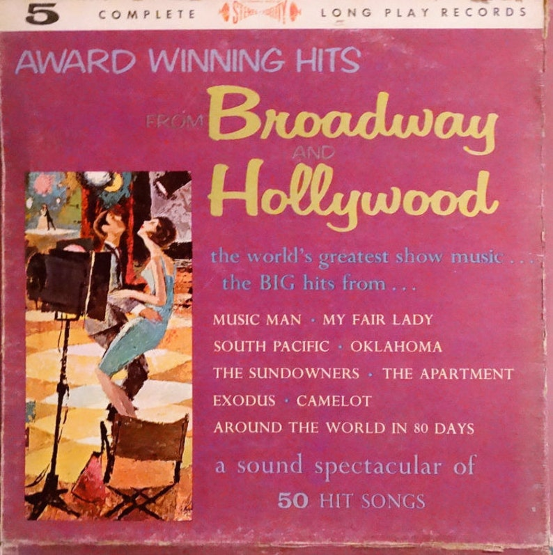 Award Winning Hits From Broadway And Hollywood - 1950s-1960s ( 5 x LP,  Album, Vinyl Record ) Stage and Screen, Musical, Jazz, Big Band