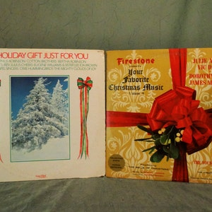 a holiday gift just for you 1973 and firestone presents your favorite christmas music volume 4 1965 lot of 2 lp album vinyl record