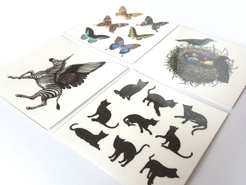 d15250c52 ANIMAL PackTemporary Tattoos 95 x 95 cm for adults and | Etsy