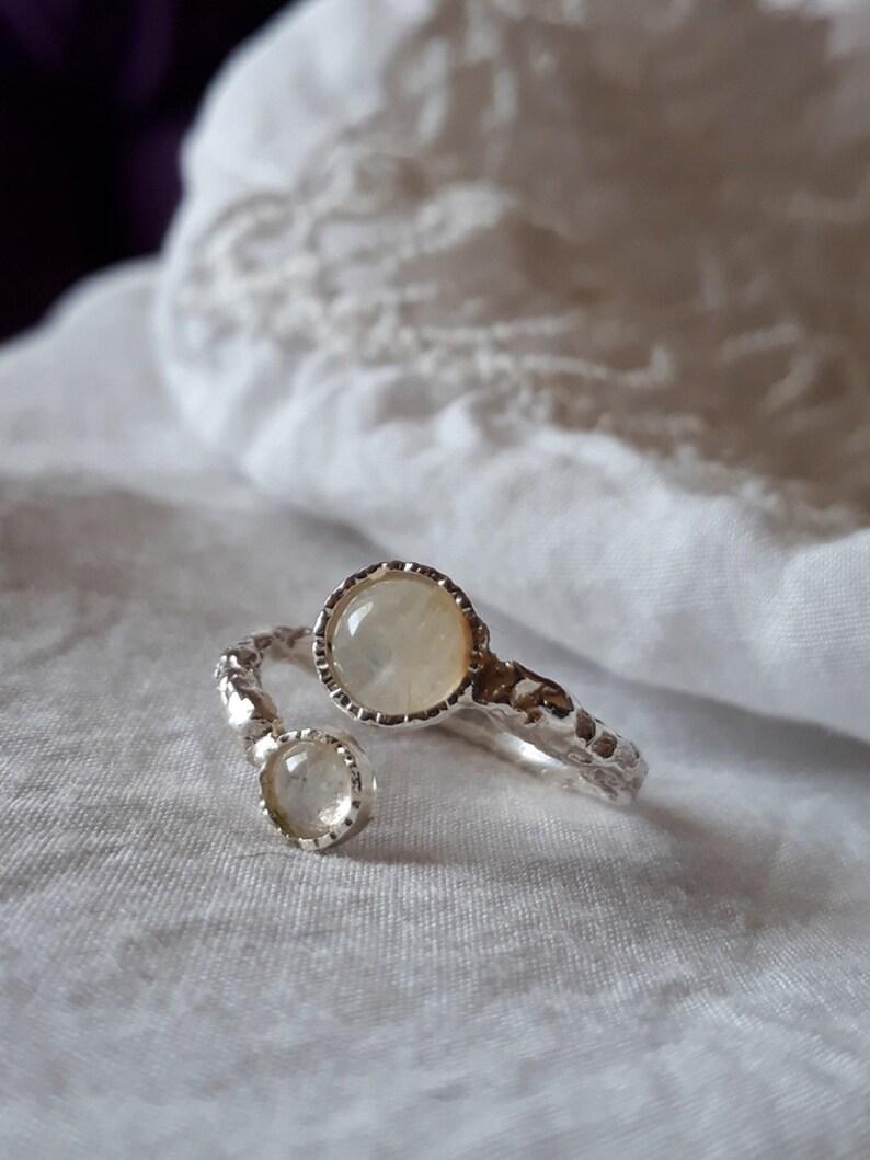 Ringe 925 Sterling Silver Ring Moonstone Ring Women's