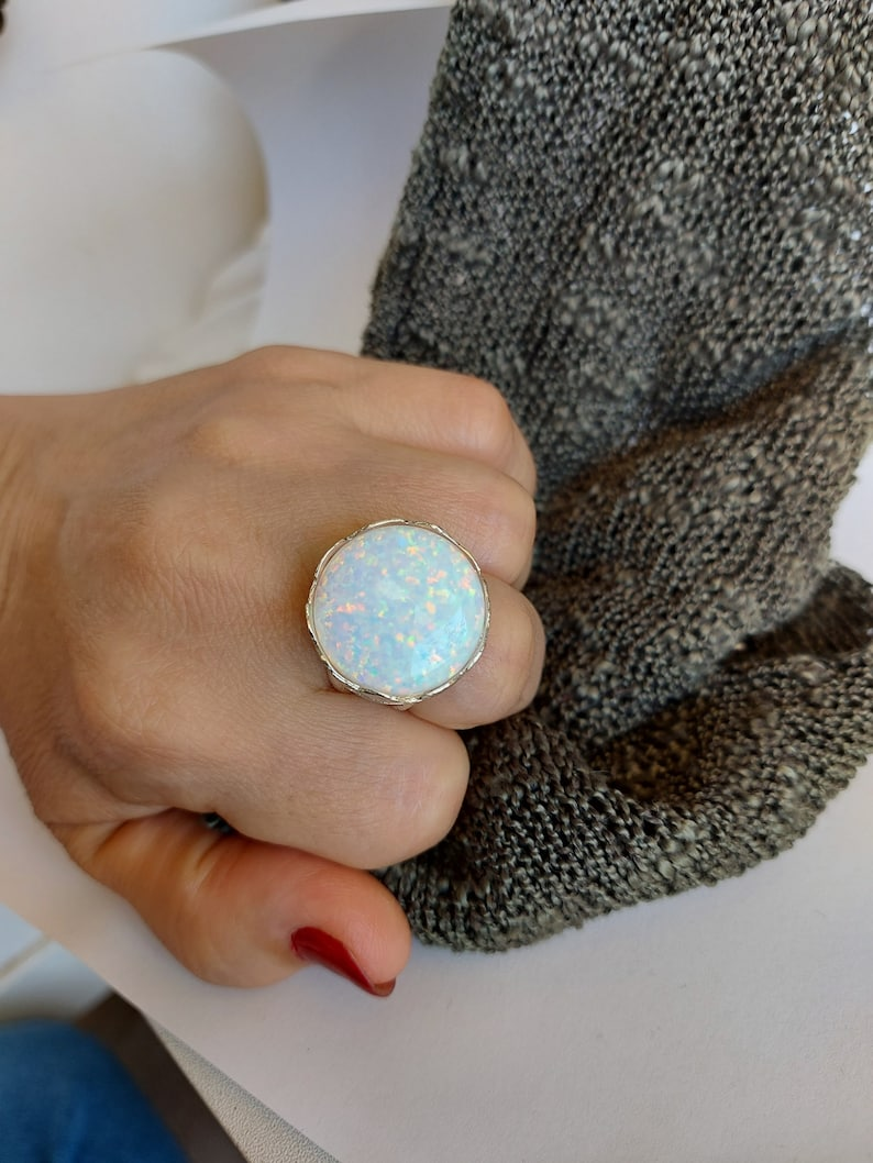 Decorated Opal Ring