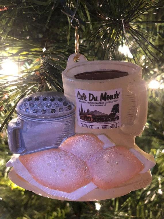 New Orleans Christmas Ornaments.New Orleans Christmas Ornament Coffee And Beignets Beignet Ornament Nola Decoration Cafe De Du Monde French Quarter Gift Box Mardi Gras