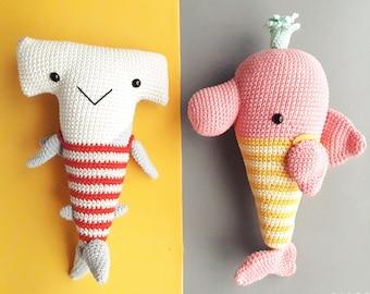 Learn to make all 7 Baby Shark & Family members | Amigurumi PDF ... | 270x340