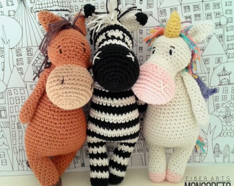 Zebra amigurumi - Schema gratuito. | 270x340