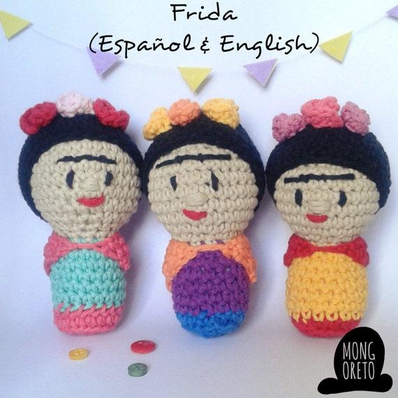 Frida Kahlo patrón crochet/ganchillo | Crochet dolls, Crochet ... | 570x570