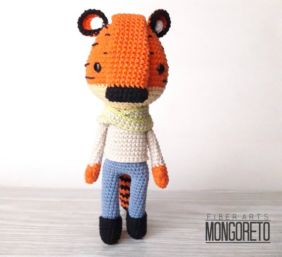 Black Stripes Tiger Crochet Pooh Tigger Amigurumi Winnie Cartoons ... | 520x570