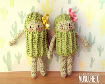 Cactus doll amigurumi pattern