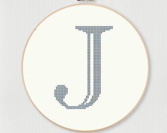 Castellar J Cross Stitch Pattern