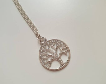 Tree of Life Pendant Necklace, Gift for Her, Teenager, Silver Jewellery