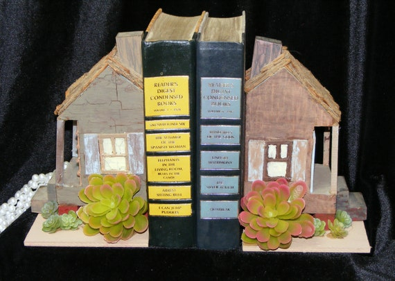 Adorable COUNTRY BOOK ENDS . .