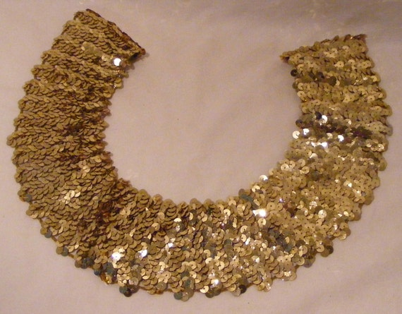 Vintage Faux Sequined Collar Embellishment