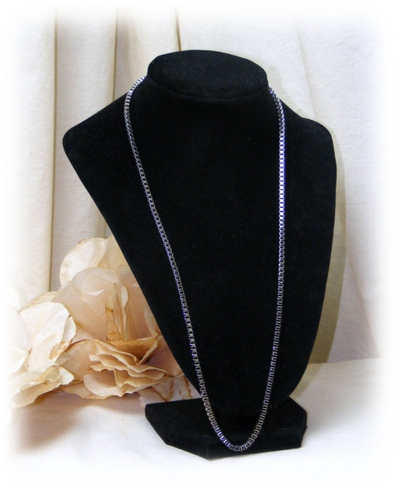 STAINLESS STEEL NECKLACE . . square style link chain