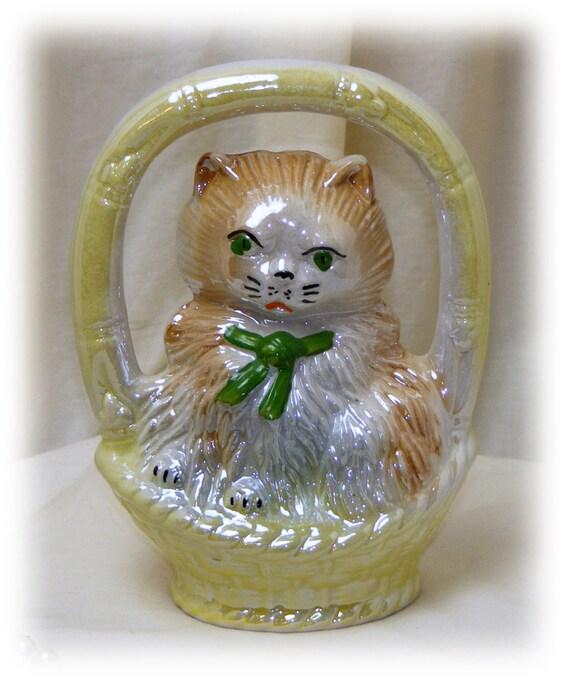 ADORABLE LUSTERWARE KITTY