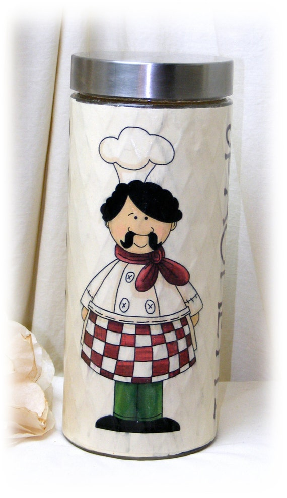 Adorable Spaghetti Glass Canister