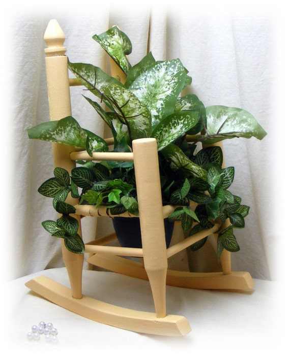 """DOLLY ROCKING CHAIR """"Upcycled"""" With Greenery"""