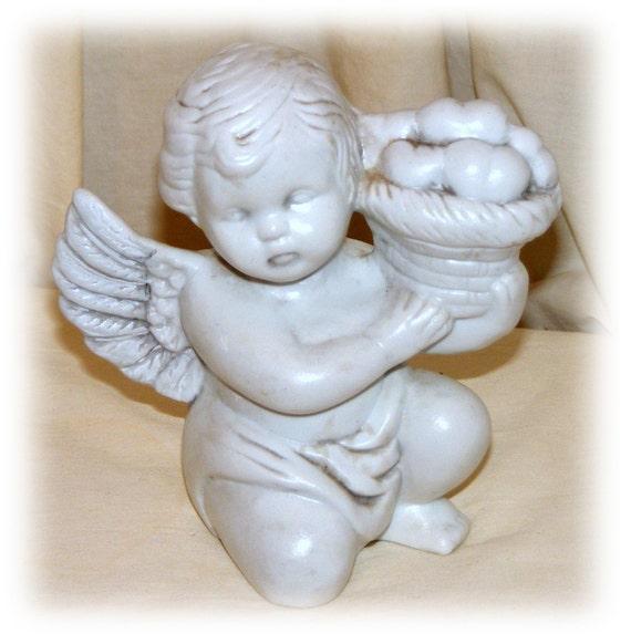 PRECIOUS ANGEL FIGURINE, With Fruit Basket