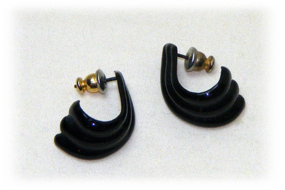 Small Black Earrings