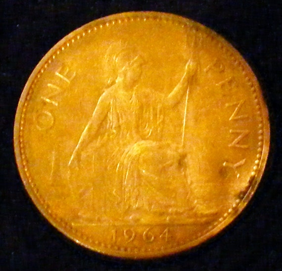 """1964 Large """"ONE PENNY"""" . . Great Investment . ."""