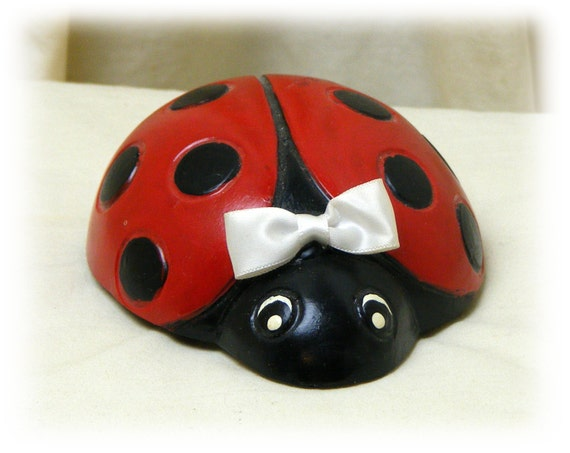 """Hand Crafted """"LADY BUG"""" Paper Weight . . . Sooo Cute"""