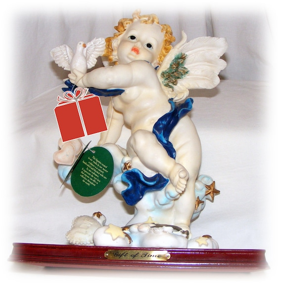 VINTAGE CHERUB FIGURINE, Like New Collectible with Tags