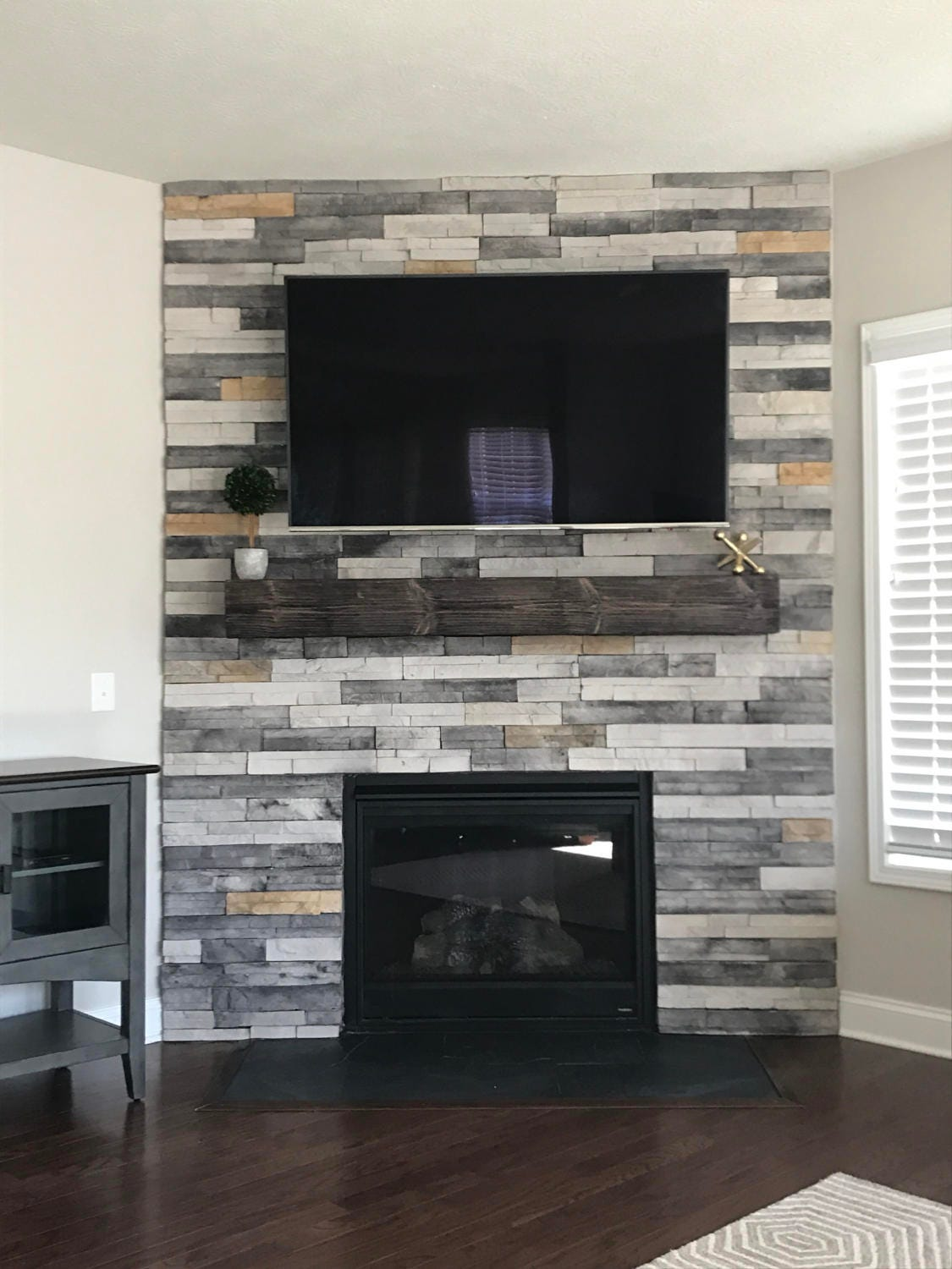 Fireplace mantel 60 long x 5 5 tall x 10 etsy for Hogares a gas rusticos