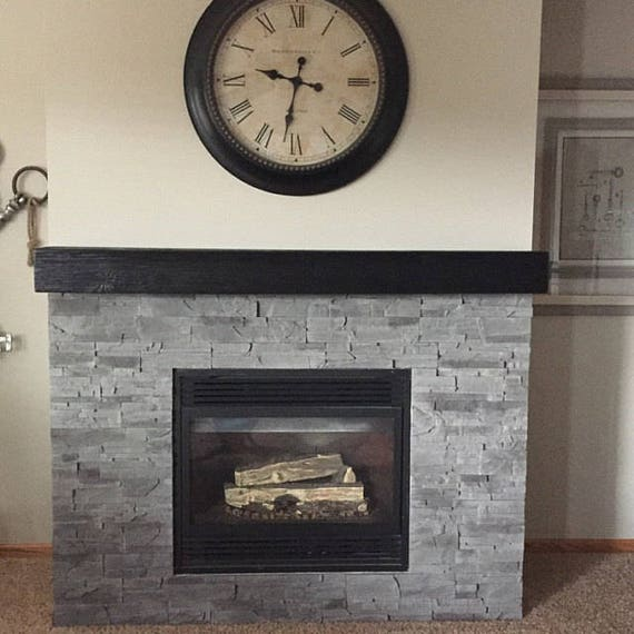 Black Fireplace Mantel 60 Long X 5 5 Tall X Etsy