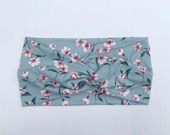 Mint Floral Turban