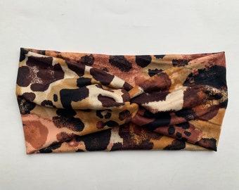 Autumn Cheetah Turban