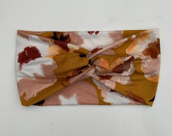 Mustard Watercolor Turban