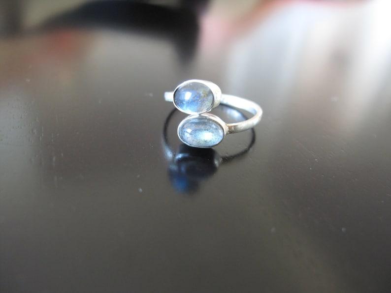 Moon Stone Silver Toe Ring Silver toe ring adjustable toe image 0