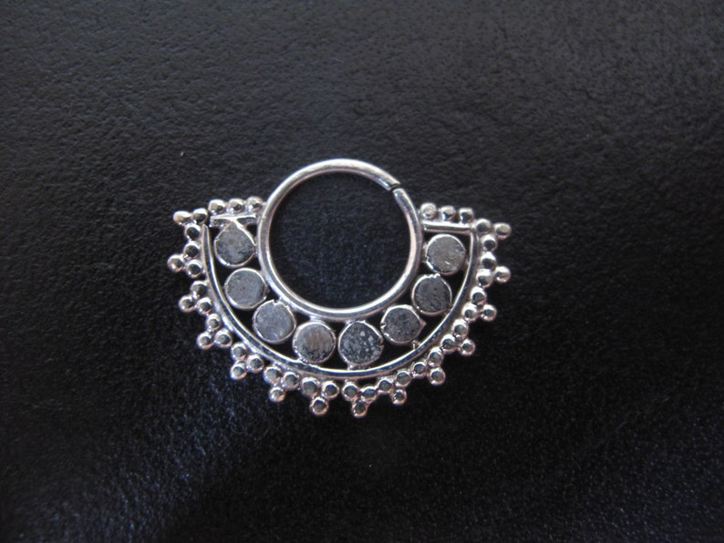 Indian Nose Ring Tribal Silver sterling Septum Ethnic tribal silver septum Silver Septum