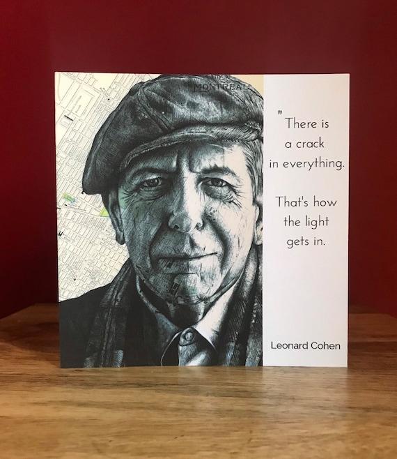 Greeting Card Leonard Cohen Cartoon