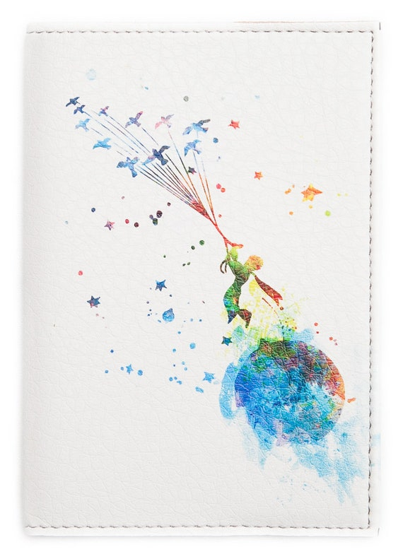 The Little Prince Cute Passport Holder Leather Cover Cards ID Travel Wallet