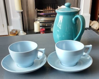 Melaware Cups and Saucers x2