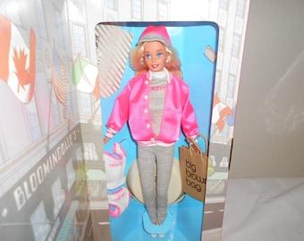 5311bcfdaa Bloomingdale Barbie Wearing Hot Pink Satin Baseball Jacket and Hat Carrying  Bloomingdales Signature Big Brown Shopping Bag! New In Box
