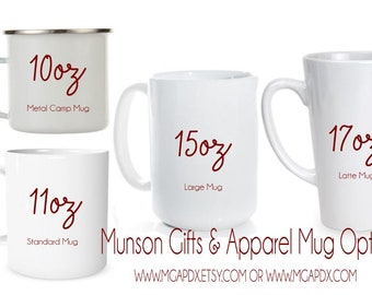Your Custom Personalized Coffee Mug - 11oz - 15oz - 17oz - Latte Mug - Coffee Mug - Personalized Gift - Customized Mug - 10oz Camp Mug