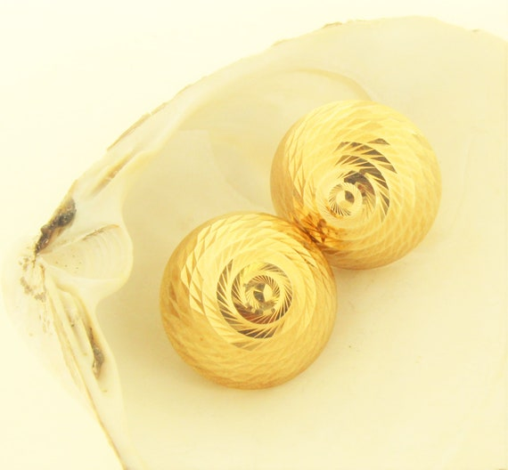 80's Gold / Vintage 14k Yellow Gold 80's Disco Bal