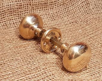 Cottage Bun Brass Door Knob Set