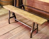 The Abbot Bench - 48 quot Antique Iron