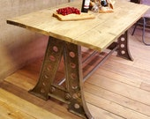 Vintage-Style Antique Iron Industrial Table - 39 The Eiffel 39