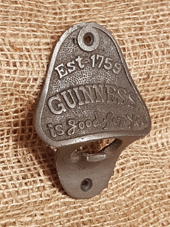 Guinness Bottle Top Opener Wall Mounted Vintage Antique Iron Retro Cast