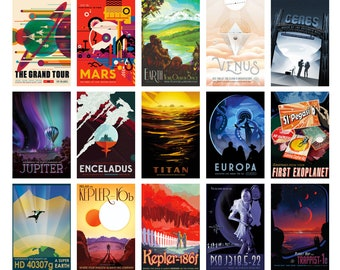 NASA 'Visions of the Future' Galaxy Travel Prints - Pick and Mix Selection High Quality A3 Prints